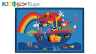 Carpets for Kids 48.74 Noahs Animals Rug  4 x 6