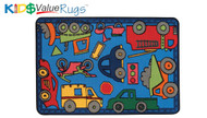 Carpets for Kids 48.62 Wheels On The Go Rug 4 x 6