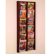 Wooden Mallet AC48-12 Magazine Wall Display 12 Pocket