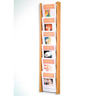 Wooden Mallet AC48-6 Magazine Wall Display 6 Pocket