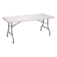 Correll CP3072FM Light Duty Plastic Fold In Half Table Gray Granite 30 W x 72 L Fixed Height
