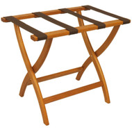 Wooden Mallet LR2 Deluxe Oak Luggage Rack