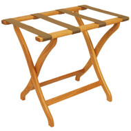 Wooden Mallet LR3 Deluxe Oak Luggage Rack