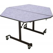 Mitchell Furniture Systems FR-486-C4 Fold N Roll 48 Inch Hexagon Table Fixed Height