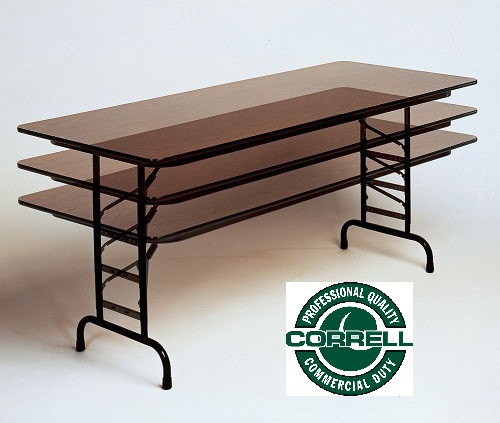 Attractive Correll PCA3696P Premium High Pressure Solid Plywood Folding Table 36 X 96