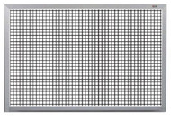 Marsh Industries PR40800GL Pro-Lite White Porcelain Markerboard with Grid Lines and Aluminum Trim 48 H x 96 W
