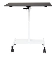 Luxor STANDUP-SC40-WB 40 inch Single Column Crank Adjustable Standing Desk