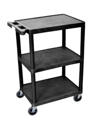 Luxor STC222 Utility Cart with Three Shelves