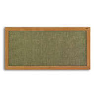 Marsh Industries AF412-7500 Vinyl Bulletin Board with Oak Wood Frame 48 x 144