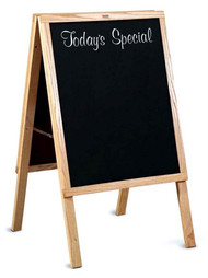 Marsh Industries ER2722000 Today's Special Cafe Sidewalk Chalkboard Sign with Oak Wood Frame 22 x 27