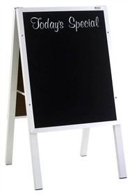 Marsh Industries ER2722AL Today's Special Cafe Sidewalk Chalkboard Sign with Aluminum Frame 22 x 27