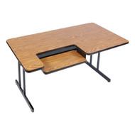 Correll BL3048 Bi Level High Pressure Laminate Top Computer Table 30 W x 48 L Fixed Height