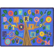 Joy Carpets 1892C-02 Alphabet Leaves Rug 5 feet 4 inch x 7 feet 8 inches
