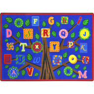 Joy Carpets 1892D-01 Alphabet Leaves Rug 7 feet 8 inch x 10 feet 9 inches