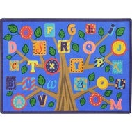 Joy Carpets 1892D-02 Alphabet Leaves Rug 7 feet 8 inch x 10 feet 9 inches