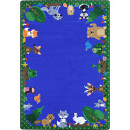 Joy Carpets 1939DD Animals Among Us Rug 7 feet 8 inches x 10 feet 9 inches Oval