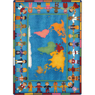 Joy Carpets 1488RR Hands Around the World Rug 2 feet 1 inches x 7 feet 8 inches