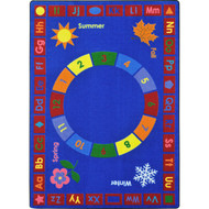 Joy Carpets 1921C Learning Time Rug 5 feet 4 inches x 7 feet 8 inches