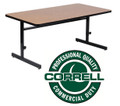 Correll CSA2460 High Pressure Top Adjustable Height Computer Table 24 inch by 60 inch