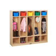 ECR4KIDS ELR-0425 Birch 5-Section Straight Coat Locker