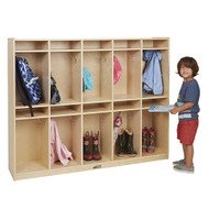 ECR4KIDS ELR-17254 Birch 10-Section Storage Locker