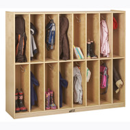 ECR4KIDS ELR-17305 Birch 16-Section Streamline Coat Locker