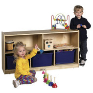 ECR4KIDS ELR-0419 Birch 5 Compartment Storage Cabinet 24 Inch