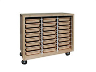 Hann SC-4824 Tote 24 Tray Mobile Storage Unit 22 x 48