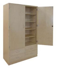 Hann TS-8 Two Door and Four Drawer General Storage Cabinet With Eight Shelves 22 x 48