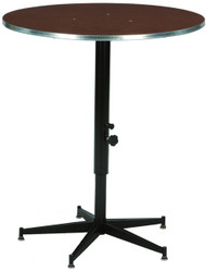 Midwest ACR30E-QS Tri Height Catering Service Table Stained Top 30 inch Diameter Quick Ship