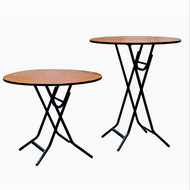 XFR3642E X-Fold Stained Top Table 36 Inch Round