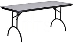 MTS Seating 415-2496-AL Continuity Arched Leg Banquet Folding Table 24 x 96