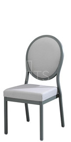 MTS Seating 95/4 Salon Nesting Dining Side Chair With Traditional Oval Back 18 Inch Seat Height