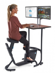 LifeSpan UNITY Bike Desk with Cherry Top