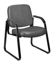 OFM 403-VAM Anti-Microbial Anti-Bacterial Vinyl Guest Reception Chair with Arms 18.5 Inch Height