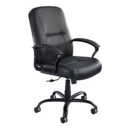 Safco 3500BL Serenity Big and Tall Leather High Back Task Chair With Arms Adjustable Height