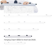 Safco 50026 Six Pack Hanging Clamps For 24 x 36 Documents