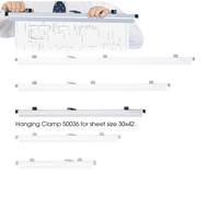 Safco 50036 Six Pack Hanging Clamps For 30 x 42 Documents