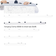 Safco 50046 Six Pack Hanging Clamps For 36 x 48 Documents