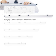 Safco 50056 Six Pack Hanging Clamps For 42 x 60 Documents