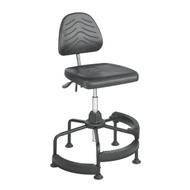 Safco 5120 Task Master Deluxe Industrial Chair With Footrests Adjustable Height