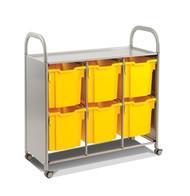 Gratnells SSET0844 Callero Plus Treble Cart with 6 Jumbo Trays