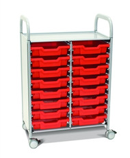 Gratnells SCISET5S Callero 16 Shallow Tray Storage Cart