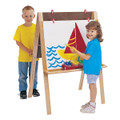 Jonti-Craft 0218JC Birch Double Adjustable Easel