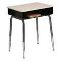Scholar Craft 2900-SPBR Open Front Solid Plastic Desk with Metal Book Box