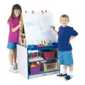Jonti-Craft 0289JCWW Rainbow Accents 2 Station Easel