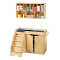 Jonti-Craft 5135JC Birch Changing Table Combo with Left Stairs