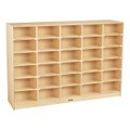 Jonti-Craft 4030JC Birch 30 Cubbie Single Storage Unit without Tubs