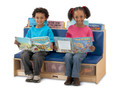 Jonti-Craft 37460JC Birch Blue Literacy Couch