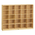 Jonti-Craft 0425JC Birch 25 Tray Mobile Cubbie Storage without Trays